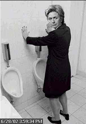 Hillary in the mens room