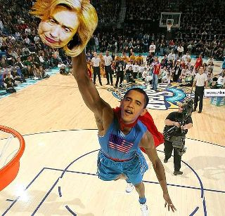 Obama Slam Dunks Hillary