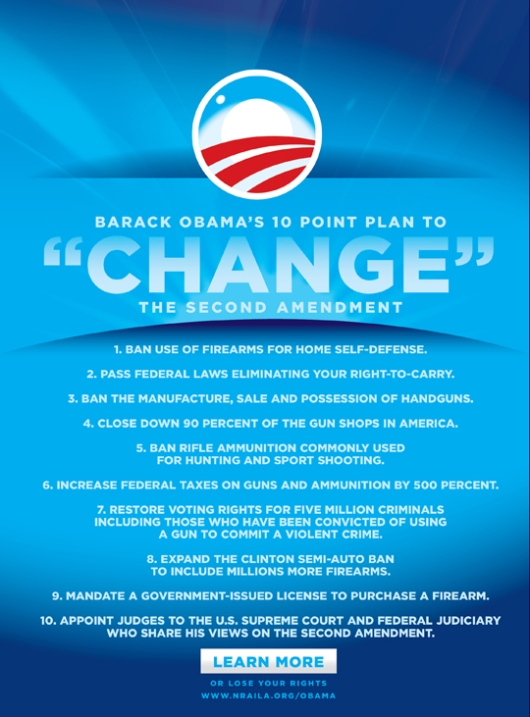 "Barack Obama's 10 Point Plan to ""Change"" The Second Amendment"
