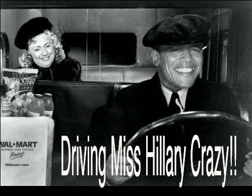 Obama's Driving Ms. Hillary