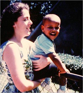 Barack Obama and his Momma