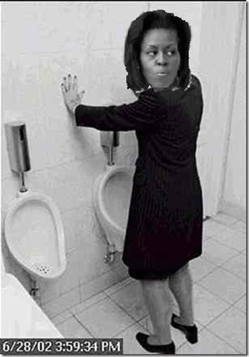 Michelle Obama Pees Standing Up